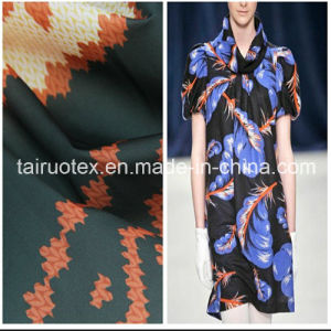Microfiber Polyester Pongee with Printed for Women Cloths Fabric pictures & photos