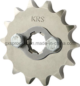Front Sprocket Motorcycle for Honda Wh100/Wh125-6/Wy125-S/Wh125-13 pictures & photos