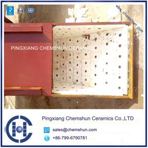 Impact Resistant Ceramic Weldable Plate/Alumina Ceramic Chute Liner pictures & photos