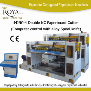 Double Carton Paperboard Cutting Machine with Spiral Knife (MJNC-4) pictures & photos