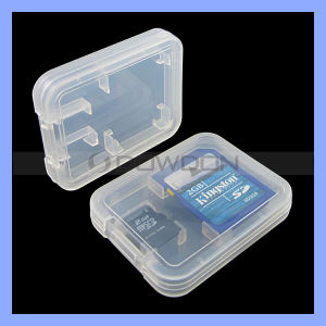 Wholesale Price 2 in 1 Plastic Memory Card Case for Micro SD Card SD Card pictures & photos