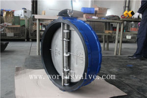 Rubber Coated Dual Plate Wafer Check Valve (H77X-10/16) pictures & photos