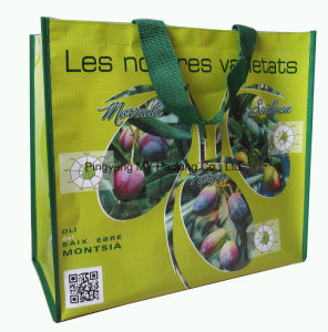 Cmyk Printing Recycled PP Woven Shopping Tote Bag pictures & photos