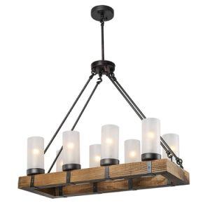 Wood Chandeliers Kitchen Island Chandelier Lighting 8-Light Pendant Lights pictures & photos