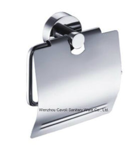 Bathroom Zinc Alloy Chrome Paper Holder