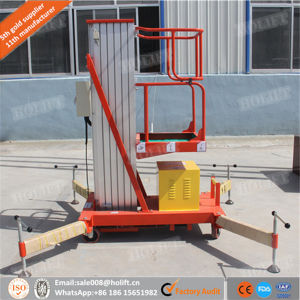 10m Single Aluminum Mast Vertical Platform Lift pictures & photos