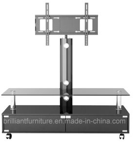 Glass+Wooden Home Furniture LCD TV Stand with Bracket (BR-TV394)