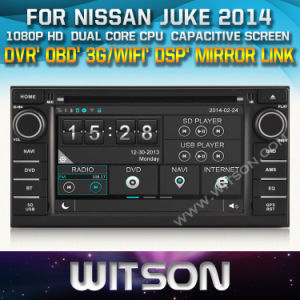 Witson Car DVD Player with GPS for Nissan Juke 2014 (W2-D8906N) CD Copy with Capacitive Screen Bluntooth 3G WiFi OBD DSP pictures & photos