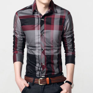 Men′s Luxury Casual Slim Fit Stylish Dress Shirts pictures & photos