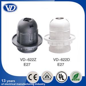 E27 Plastic Full Threading Body Lamp Holder Vd622