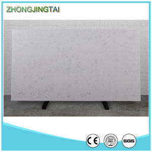 3000*1400 White Glossy Engineered Stone Artificial Stone Quartz pictures & photos