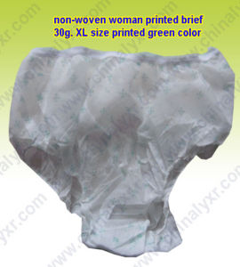 Hot Sell Nonwoven Woman Printed Brief (LY-NPW-PG) pictures & photos
