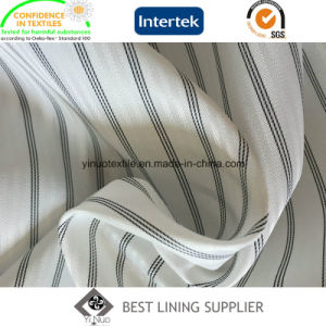 100 Polyester Men′s Suit Black and White Long Sleeve Lining Supplier pictures & photos