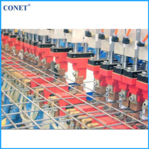 Conet Brand Semi-Automatic Reinforcing Wire Mesh Panel Welding Machine (HWJ3000 with line wire and cross wire 5-12mm) pictures & photos