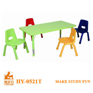 Kids Plastic Desk and Chair Furniture pictures & photos