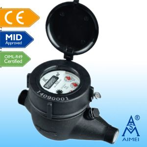 MID Certificated Multi Jet Liquid-Sealed Plastic Water Meter pictures & photos