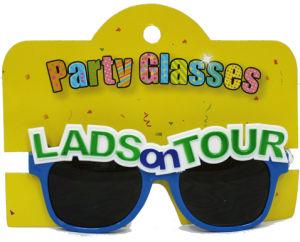 Party Glasses Lads on Tour