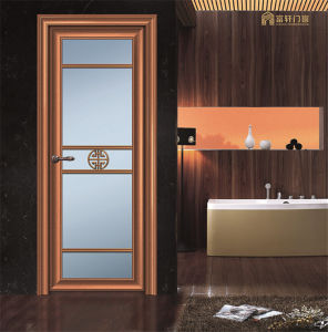 Aluminum Profile Wooden Color Hinge Door pictures & photos