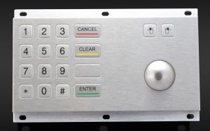 Industrial Metal Keypad with Trackball (KMY3505A) pictures & photos