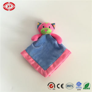 Blue and Pink Lovely Face Cat Baby Care Soft Blanket pictures & photos