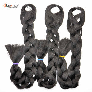 2017 Fiber Fancy Hair Braid 100 % Kanekalon Jumbo Braid Synthetic Hair Extensions Stock Lots Goods Available Lbh 014 pictures & photos