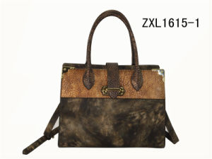 PU Leather Lady Fashion Handbag/Newest Pictures Women Fashion Tote Bag (ZXL1615-1) pictures & photos
