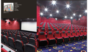 China Red Amphitheater Seating, High Density Foam Stuffed Fabric Cinema Movie Chair pictures & photos