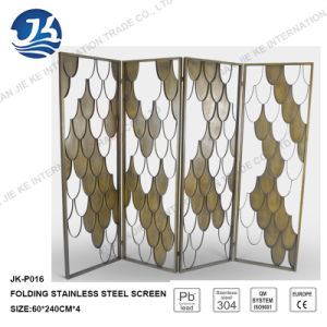 PVD Coated Color Stainless Steel Folding Room Divider Screen 8k Mirror Finish pictures & photos