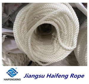 Three Strands of Polypropylene Filament Quality Certification Mooring Rope pictures & photos