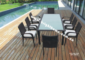 Aluminum Aluminium Dining Rattan Outdoor Garden Furniture pictures & photos