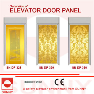 Etching Stainless Steel Door Panel for Elevator Cabin Decoration (SN-DP-328) pictures & photos