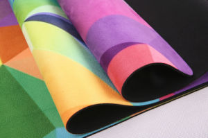 Printed Yoga Mat, Deluxe Microfiber Surface, Good Grip, Anti-Slip pictures & photos