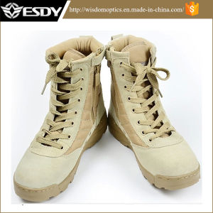 High 7-Inch Desert Combat Assault Military Army Tactical Boots pictures & photos