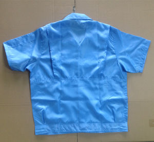 Unisex Design Cleanroom Blue ESD Working Shirt pictures & photos