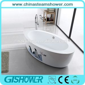 Cheap Oval Shaped Solid Surface Bathtub (BL1006E) pictures & photos