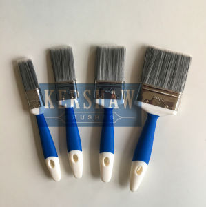Paint Brush (flat brush with tapered filament and soft touch handle, Stainless Steel ferrule) St-001 pictures & photos