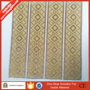 2016 Tailian Hot Fix Gold Crystal Rhinestone Mesh pictures & photos