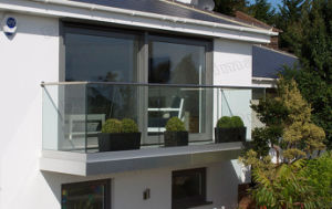 Frameless Glass U Channel Railing and Balustrade pictures & photos