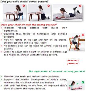 Colorful Ergonomic Children Furniture Kids Bedroom Furniture Ergonomic Table pictures & photos