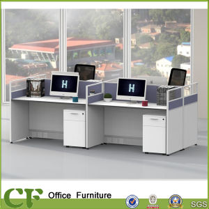 Modern Clear Glass 4 People Office Desk Cubicles pictures & photos