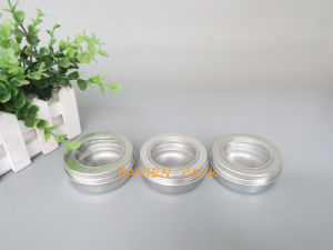 60g Silver Aluminum Jar with Window Lid for Food Packaging (PPC-ATC-60) pictures & photos