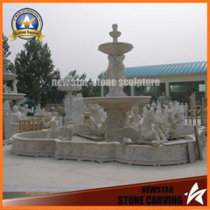 Garden Decoration Marble Stone Carving Water Fountain (NS-11F03) pictures & photos