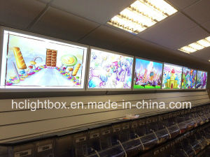 Colorful Slim Light Box with Silver Frame for Restaurant pictures & photos