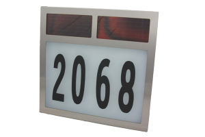 Big Size Stainless Steel Solar House Number Light pictures & photos