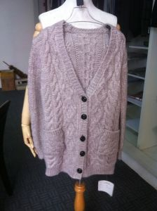 2016 Latest V-Neck Wool Knitted Cardigan for Women/Ladies