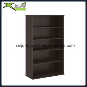 Black Simple 5 Tier Wooden Bookcase Wide