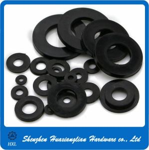 PA66 Black White Nylon Plastic Flat Washer/Gasket pictures & photos