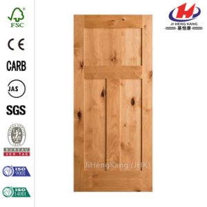 24 in. X 80 in. Craftsman 3-Panel Alder Door Slab pictures & photos