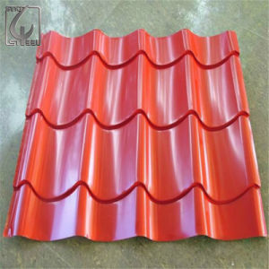 0.24mm PE Filmed Color Coated Corrugated Steel Sheet pictures & photos
