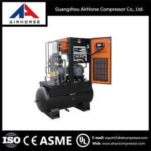 rotary screw air compressor for sale. whole sale price tank mounted rotary screw air compressor for 1